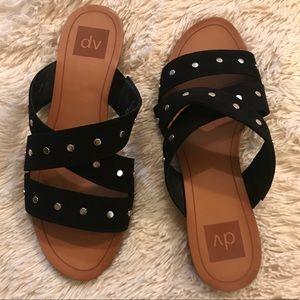 [Dolce Vita] Studded Slip On Sandals 🖤
